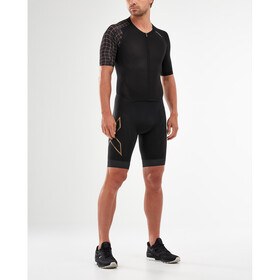 2XU Compression Full Zip Sleeved Trisuit Men black/gold